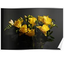 Yellow Roses for my Love Poster