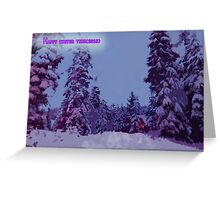 HAPPY WINTER TIME(2015) Greeting Card
