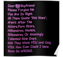 """Dear ExBoyfriend """"All Them Hot Hoes"""" Poster"""