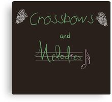 Crossbows and Melodies. [TWD] Canvas Print