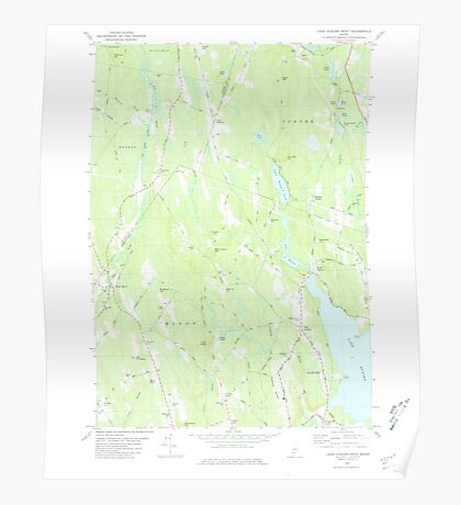 Maine USGS Historical Map Lake Auburn West 460540 1981 24000 Poster