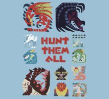 MONSTER HUNTER 4 - HUNT THEM ALL by bluerockerzoo