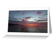 Southern Sunset Greeting Card