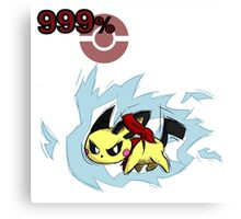 Pichu Melee w/ Electricity Canvas Print