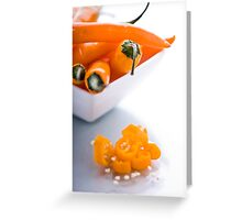 A Taste of Chilli. Greeting Card
