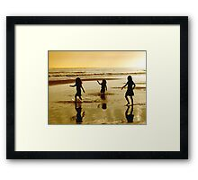 Fun in the Surf Framed Print