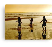 Fun in the Surf Canvas Print