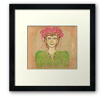 Flower crown hiccup Framed Print