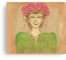 Flower crown hiccup Canvas Print