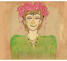 Flower crown hiccup Photographic Print