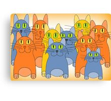 Nine Lives Plus One Canvas Print