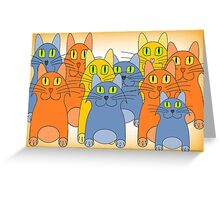 Nine Lives Plus One Greeting Card
