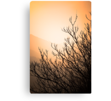 Mountain Silhouette Canvas Print