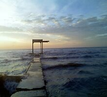 Lake Erie Old Pier by CallalilyColors