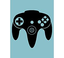 Nintendo N64 Black Photographic Print