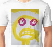 Smile - Yellow With Fuchsia Eyes Unisex T-Shirt