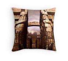 the ancient  corridor Throw Pillow