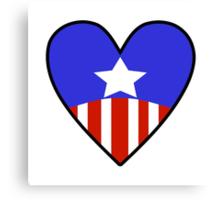 Cap Heart Canvas Print