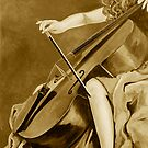 The Lady Can Play in Sepia by Sue McMillan