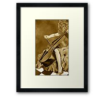 The Lady Can Play in Sepia Framed Print