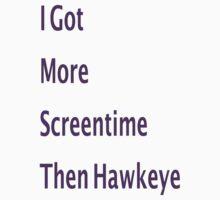 Hawkeye Screentime by BreeLeeG