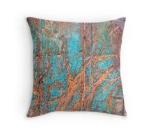 Rusty metal Throw Pillow