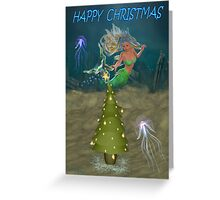 A christmas mermaid Greeting Card