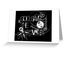 God Save The QVeen - Vivienne Icons (black version) Greeting Card