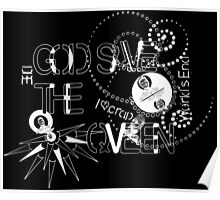 God Save The QVeen - Vivienne Icons (black version) Poster