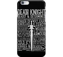Death Knight iPhone Case/Skin