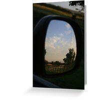 Rear view landscape Greeting Card