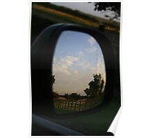 Rear view landscape Poster