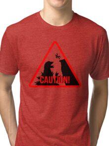 Caution - Monster! Tri-blend T-Shirt