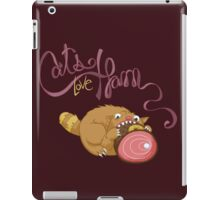 Cats Love Ham iPad Case/Skin