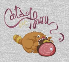 Cats Love Ham One Piece - Long Sleeve