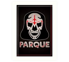 Parque Mask Design Art Print