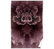 Ornamental Cabbage Abstracted Poster