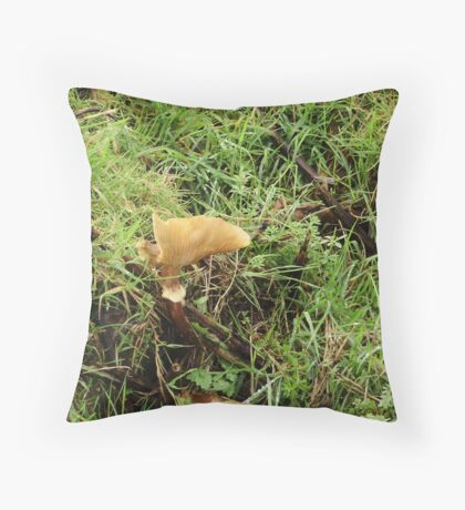 unusual shaped fungi Throw Pillow