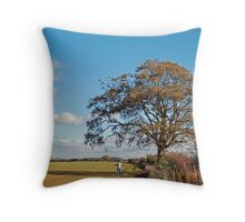 Rodders and the Tree Throw Pillow