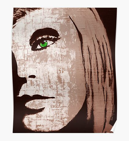 Green Eyes in Brown Poster