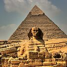The Sphinx and Khafre's Pyramid by Roddy Atkinson