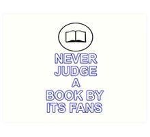 Never Judge A Book Art Print
