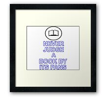 Never Judge A Book Framed Print