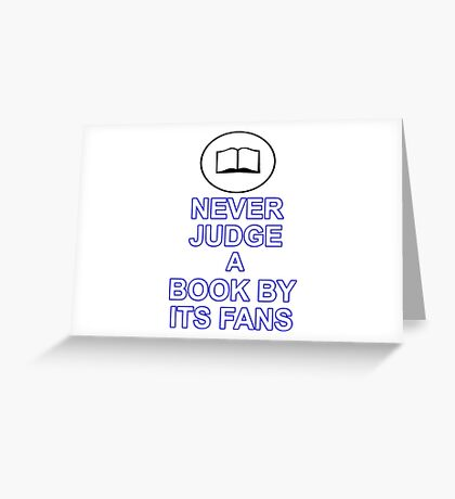 Never Judge A Book Greeting Card