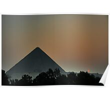 Pyramid Sunset Poster