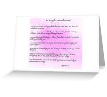 The Day of Remembrance Greeting Card