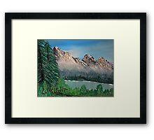 Mountain Scene In My Mind Framed Print