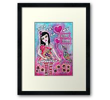 You tug on my heart strings Framed Print