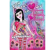 You tug on my heart strings Photographic Print