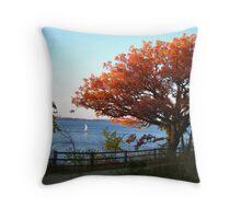 Sailing in Autumn Throw Pillow
